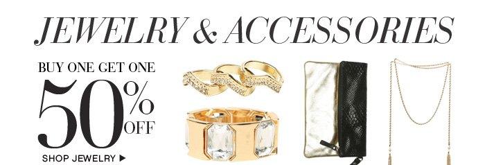 Jewelry BOGO 50 per off