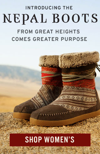 Introducing the Nepal Boots - from great heights comes greater purpose