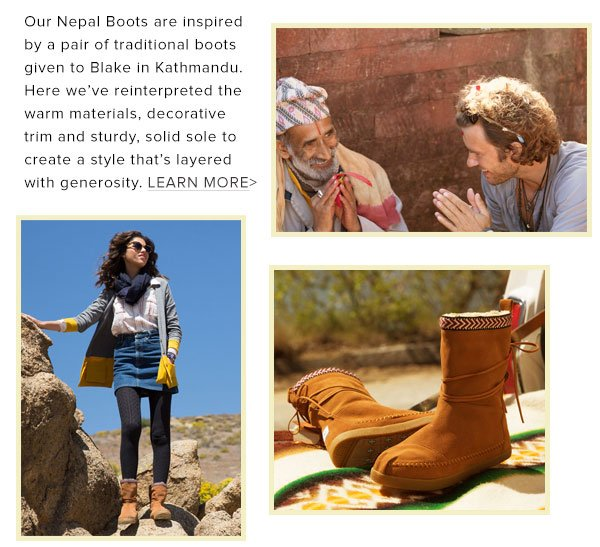 Learn more about the inspiration behind our Nepal Boot
