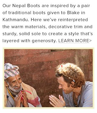 Learn more about the inspiration behind our Nepal Boots
