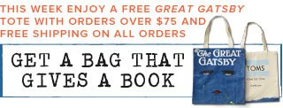Get a bag that gives a book