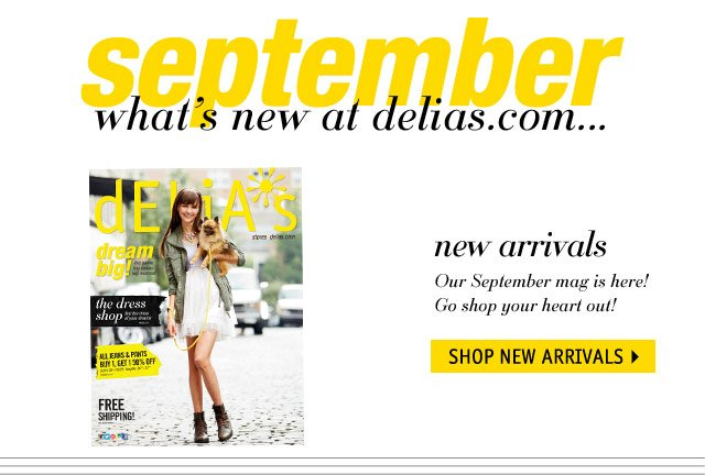 september what's new in...