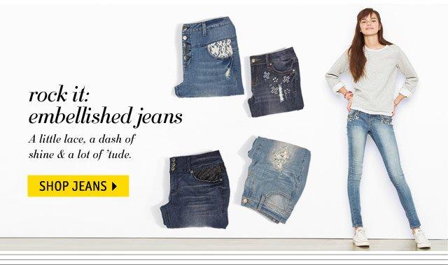 rock it: embellished jeans