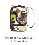Carry It All Wristlet in Cocoa Moss