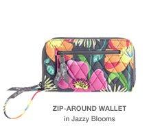 Zip-Around Wallet in Jazzy Blooms