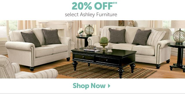 20% OFF** select Ashley Furniture - Shop Now