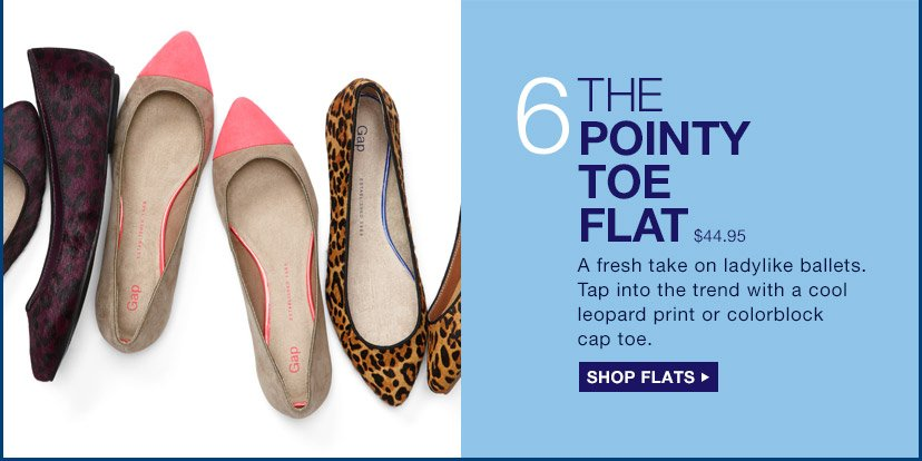 6 | THE POINTY TOE FLAT | SHOP FLATS