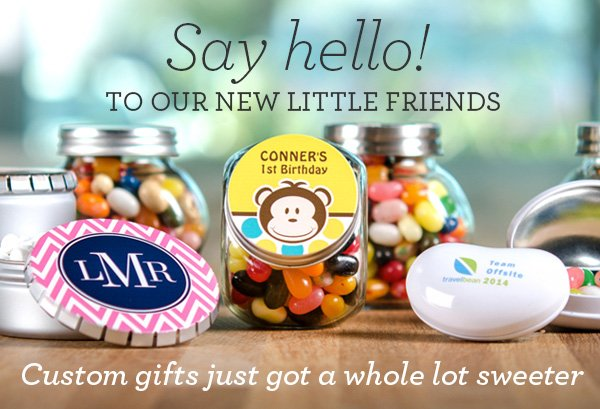 Say hello to our new little friends. Custom gifts just got a whole lot sweeter.