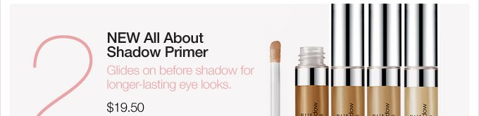 (2) NEW All About Shadow Primer. Glides on before shadow for longer-lasting eye looks. $19.50