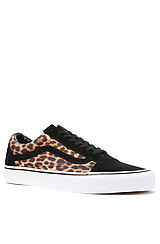 Vans  Old Skool Sneaker in Black True White Leopard
