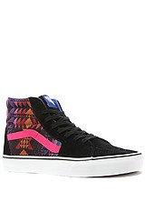 Vans Sk8Hi Sneaker in Black & Surf The Web