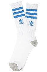 adidas Originals Roller Crew Socks in White Bluebird