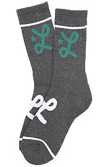 LRG Core Collection One Crew Sock in Black Heather