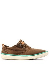 Timberland Earthkeepers Hookset Handcrafted Fabric Oxford Sneaker in Faded Brown Canvas