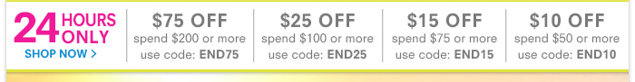 24 Hours Only - End of Summer Savings!