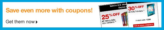Save  even more with coupons!   Get them now.