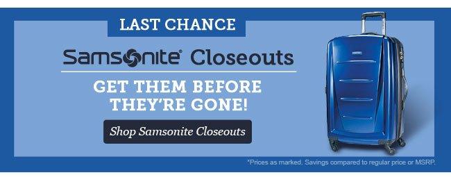 Shop Samsonite Closeouts