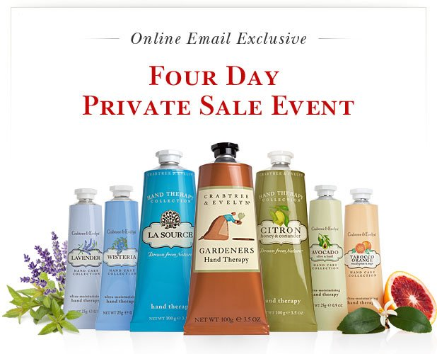 Shop Four Day Private Online Sale.