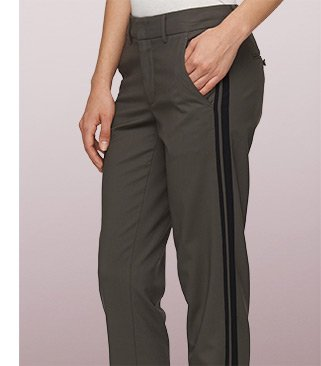 Colorblock Strapping Trousers