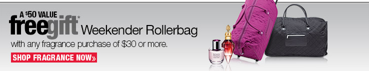 FREE GIFT a $50 value with any fragrance purchase of $30 or more. SHOP FRGRANCES