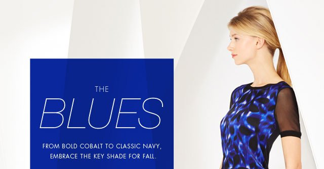 The Blue: From bold cobalt to classic navy, embrace the key shade for fall.
