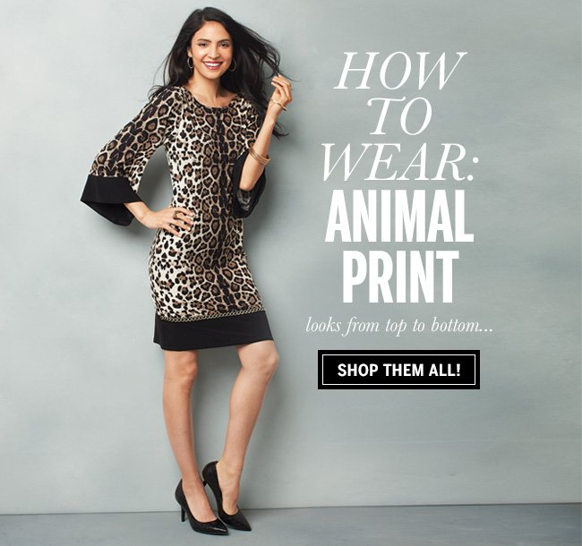 How to Wear: Animal Print. Looks from top to bottom... Shop them all!