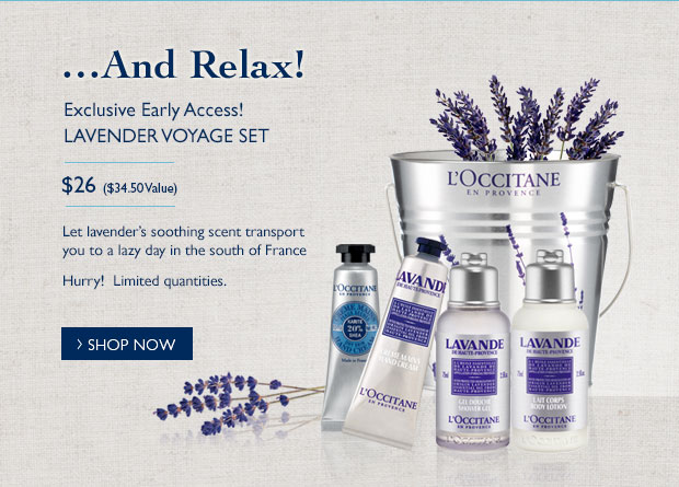 Exclusive Early Access! Lavender Voyage Set $26 Hurry! Limited quantities
