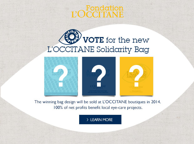 Vote fore the new L'Occitane Solidarity Bag
