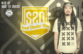 $20 & Under  Bin