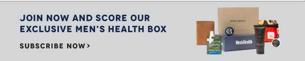Join Birchbox Man to receive September's Men's Health Box