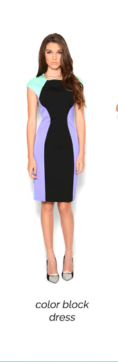 Versace Collection Color Block Short Sleeve Dress