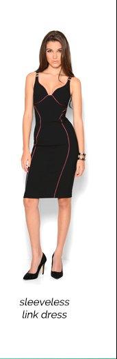 Versace Collection Sleeveless Logo Link Dress