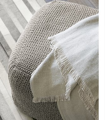 Linen Twill Natural Throw $55.96 Reg.  $69.95