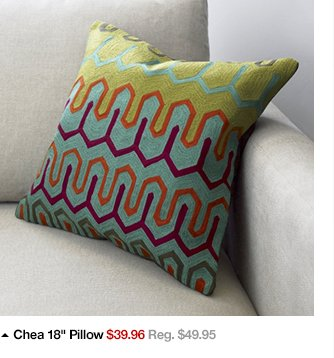 Chea 18in Pillow $39.96 Reg. $49.95