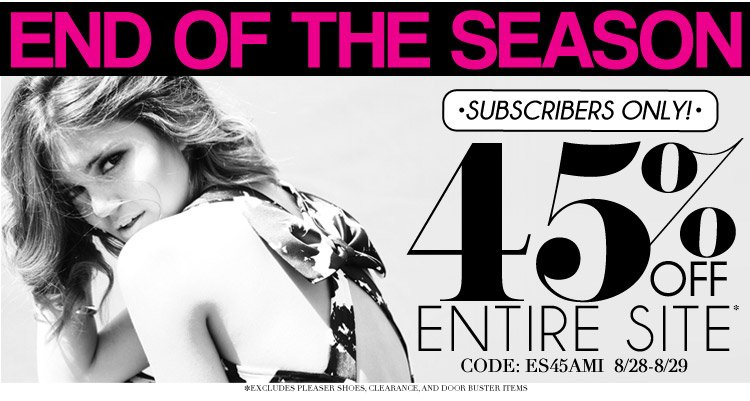 45% Off End of the Season Sale!