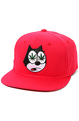 The Felix Snapback Hat in Red
