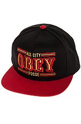 The 89ers Snapback in Red and Black