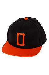 The Legacy Snapback in Black and Orange