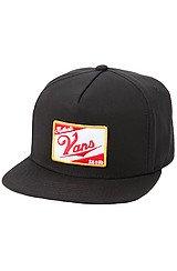 The SK8 Hi Snapback Hat in Black