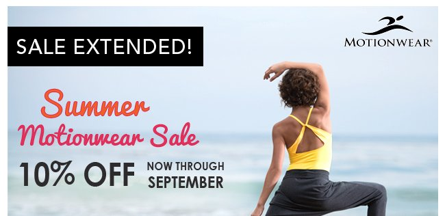Sale Extended - 10% Off Motionwear