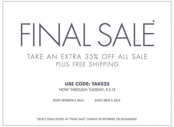 Extra 35% Off All Sale