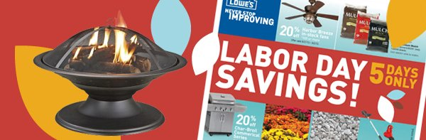 Labor Day savings! 5 days only.