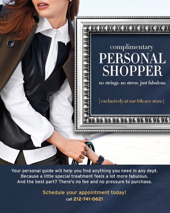 complimentary personal shopper