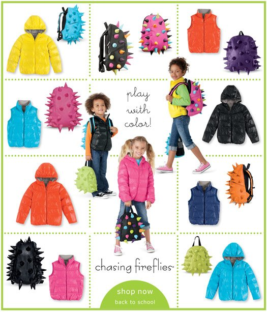 jackets and backpacks