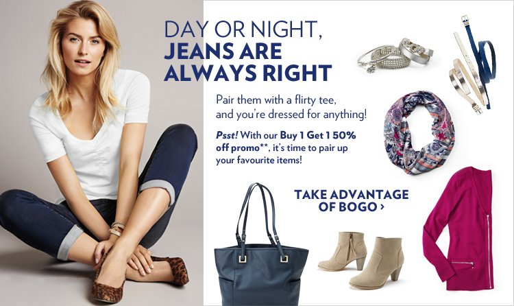 Day or night, jeans are always right.