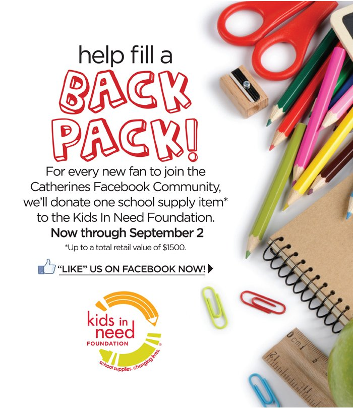 Help Fill A Back Pack