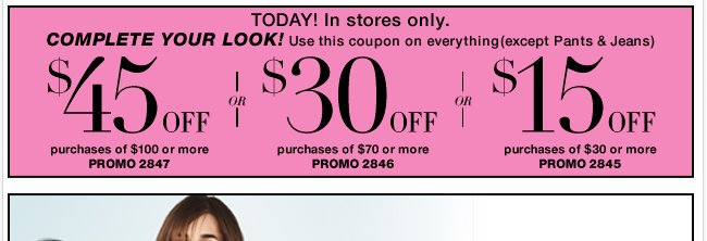 Save with this coupon in-store only. Shop NOW!
