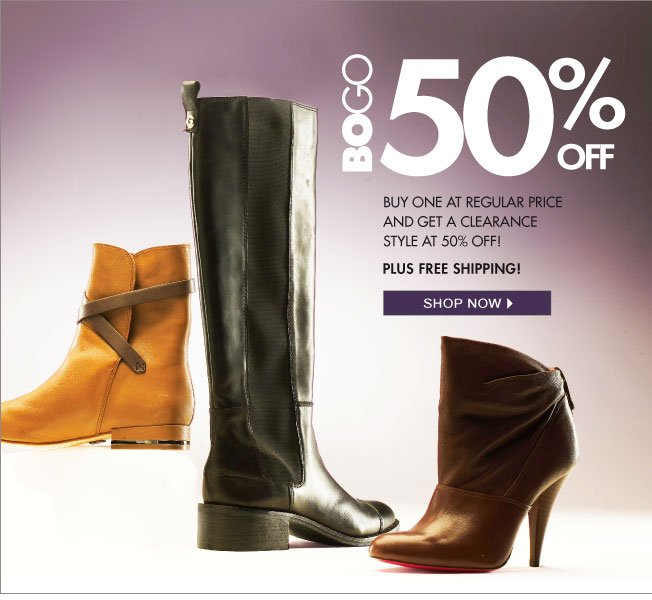 BOGO! 50% off a sale item with the purchase of a full priced item