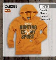 Boy's Graphic Fleece Hooded Sweatshirt