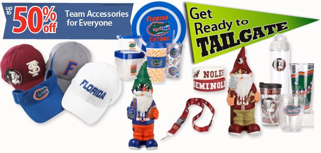 Up to 50% off Team Accessories